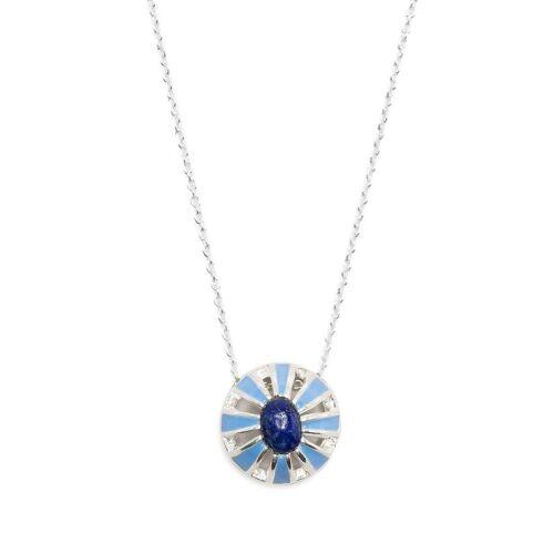 AKANSHA SETHI Halskette mit Lapislazuli - Silber Unisex regular