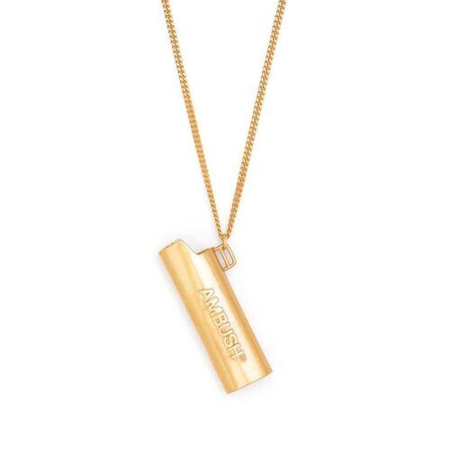 AMBUSH Halskette mit Feuerzeughülle - Gold Unisex regular