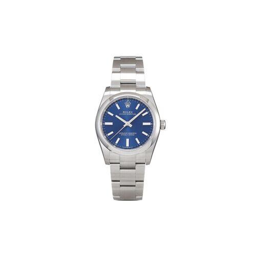 Rolex 2020s ungetragene Rolex Oyster Perpetual 34mm - Blau Male regular
