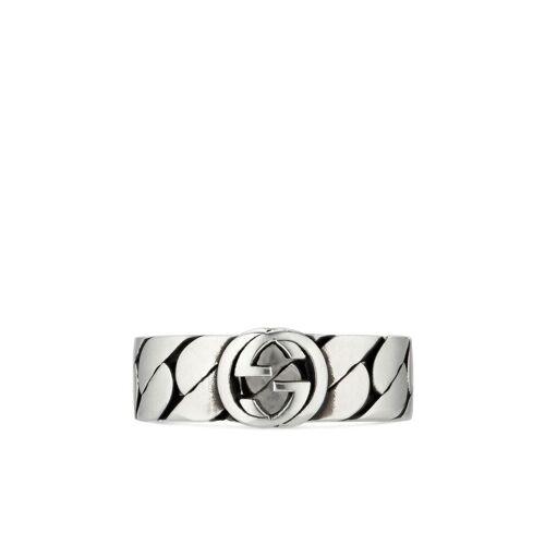 Gucci Ring mit verschlungenem GG - Silber Unisex regular
