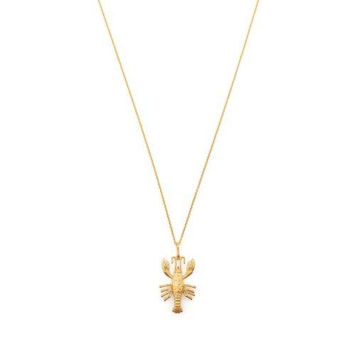 Saint Laurent Halskette mit Hummer-Anhänger - Gold Male regular