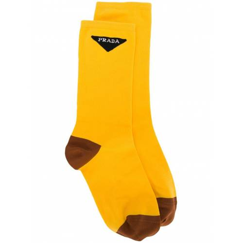 Prada Socken mit Logo - Gelb Male regular