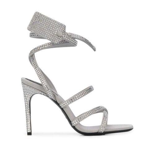Off-White Sandalen mit Kristallen - Grau Male regular