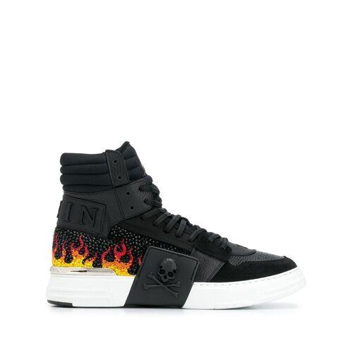 Philipp Plein Sneakers mit Kristallflammen - Schwarz Unisex regular