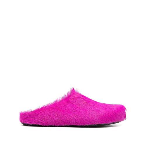 Marni Slipper aus Kalbshaar - Rosa Male regular