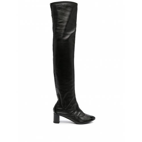 Chanel Pre-Owned Overknee-Stiefel - Schwarz Male regular