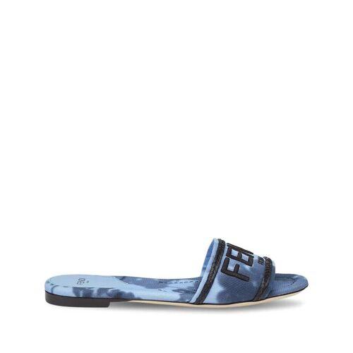 Fendi Sandalen mit Logo - Blau Male regular