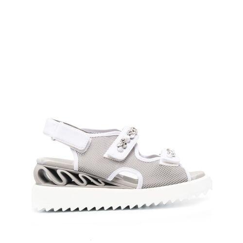 Le Silla Sandalen mit Kristallen - Grau Male regular