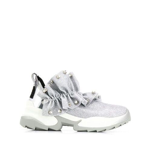 Sergio Rossi Sneakers mit Rüschen - Silber Female regular