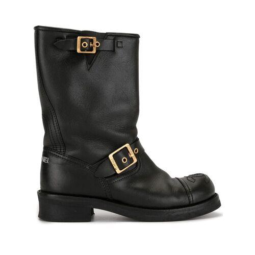 Chanel Pre-Owned Stiefel mit CC - Schwarz Female regular