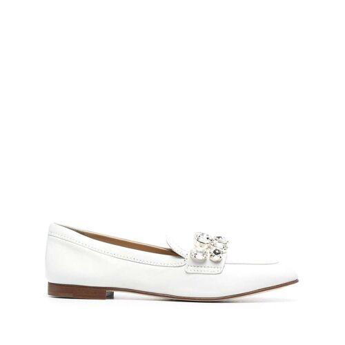 Casadei Loafer mit Kristallnieten - Weiß Female regular