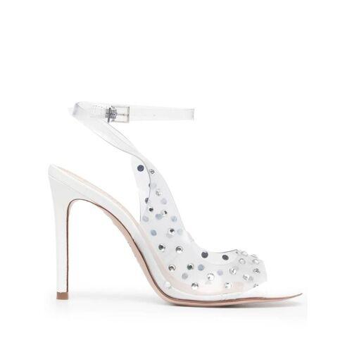 Schutz Sandalen mit Kristallen - Weiß Unisex regular