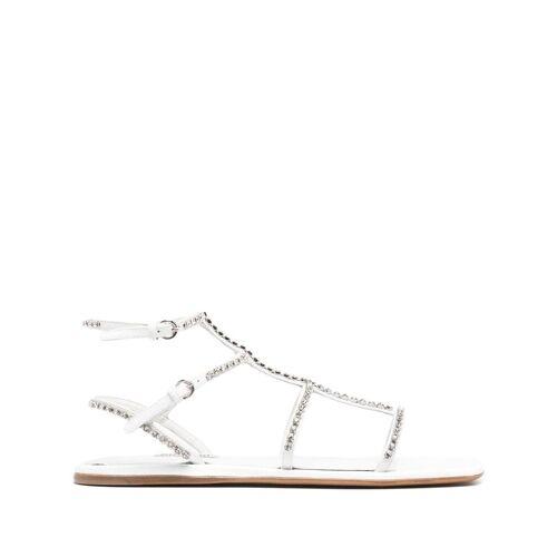 Miu Miu Sandalen mit Kristallen - Weiß Unisex regular