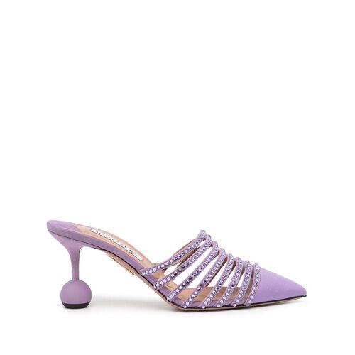 Aquazzura Mules mit Kristallen 75mm - Violett Female regular