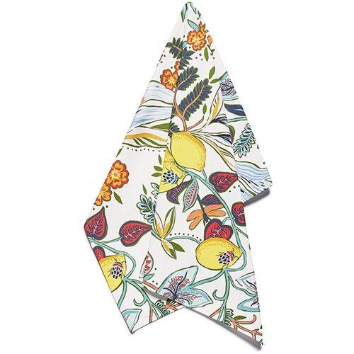 La DoubleJ Geschirrtuch mit botanischem Print - Weiß Unisex regular