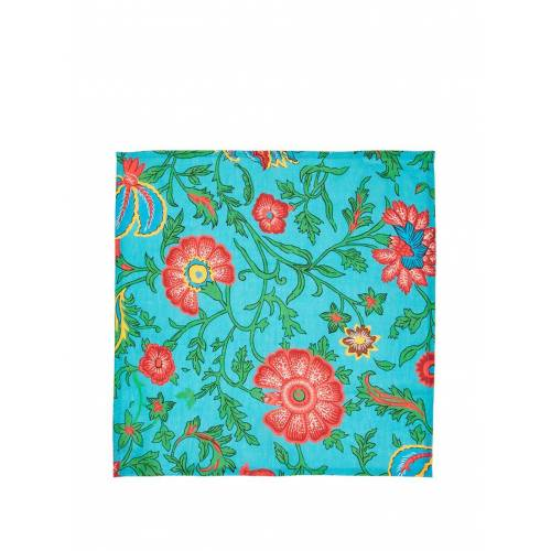 La Doublej Servietten-Set mit Dragon Flower-Print - Blau Male regular