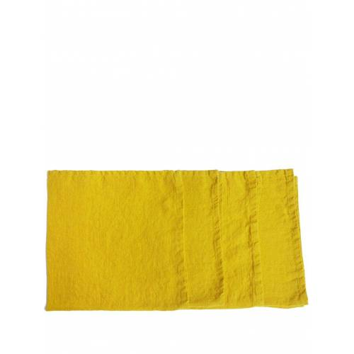 Once Milano 4er-Pack Leinenservietten - Gelb Male regular