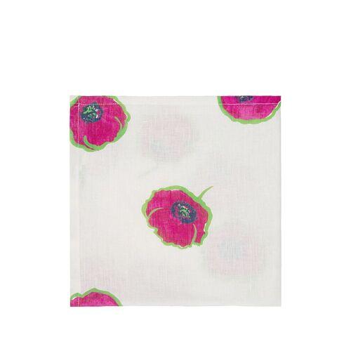 La Doublej 6-teiliges Servietten-Set mit Tulpen - Weiß Female regular