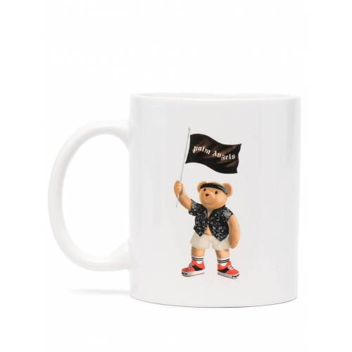 Palm Angels Tasse mit Piraten-Teddy - Weiß Female regular