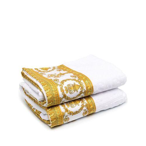 Versace Home Badetuch mit Logo-Print - Weiß Female regular