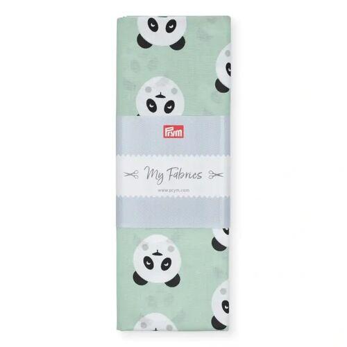 PRYM Baumwollstoff Panda BERLIN, mint, Stoffe, Baumwollstoffe, 1mx1,5m türkis