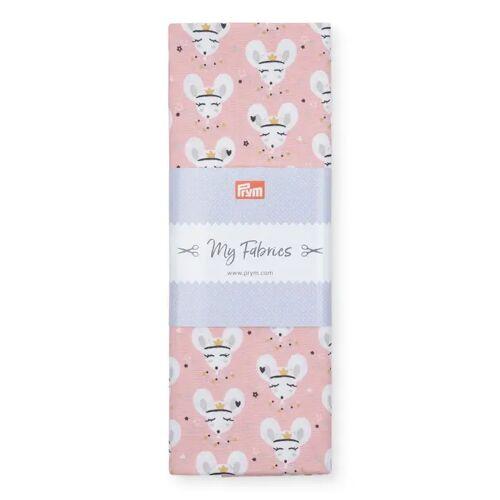PRYM Baumwollstoff Maus PRINCESS, rosa, Stoffe, Baumwollstoffe, 1mx1,5m rosa