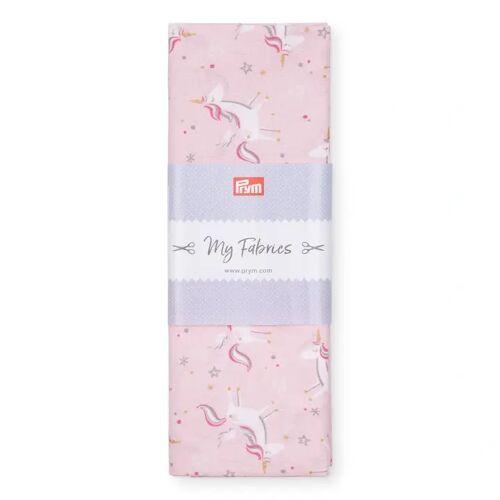 PRYM Baumwollstoff Einhorn PRINCESS, rosa, Stoffe, Baumwollstoffe, 1mx1,5m rosa
