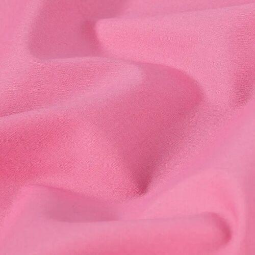 PRYM Baumwollstoff Uni - soft pink, Stoffe, 1m rosa