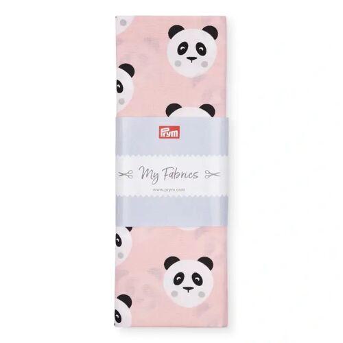 PRYM Baumwollstoff Panda BERLIN, rosa, Stoffe, Baumwollstoffe, 1mx1,5m rosa