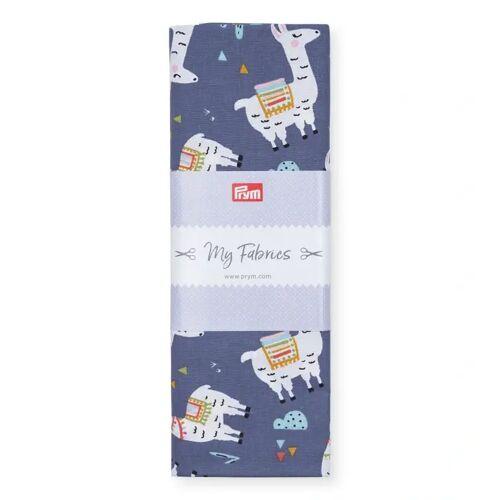 PRYM Baumwollstoff Lama PERU, jeansblau/multi, Stoffe, Baumwollstoffe, 1mx1,5m blau
