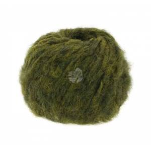 Lana Grossa Lala Berlin Furry - 15 oliv, Alpakawolle, 50g grün