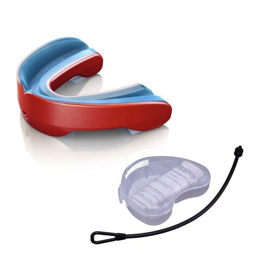 Shock Doctor Gel Nano 6420Y Mundschutz CE mit Strap und Mundschutzdose - pearl red Gr. Junior