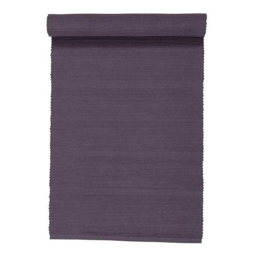 Linum Baumwolle Uni Tischläufer Einfarbig Pflaume 45x150 cm