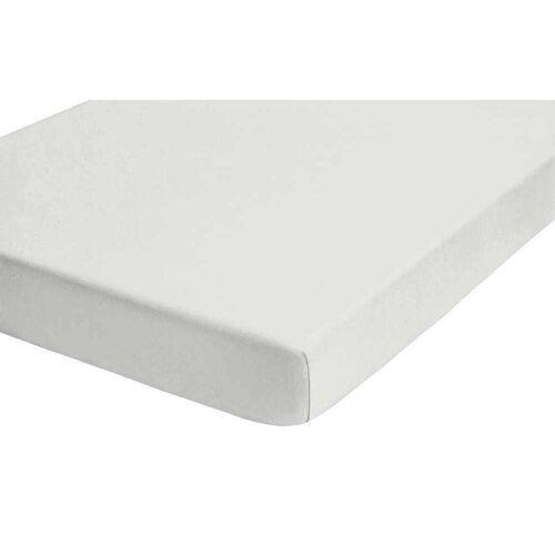 Biberna Jersey Elasthan Boxspringbett Spannbettlaken 140x200 cm - 160x220 cm Grau