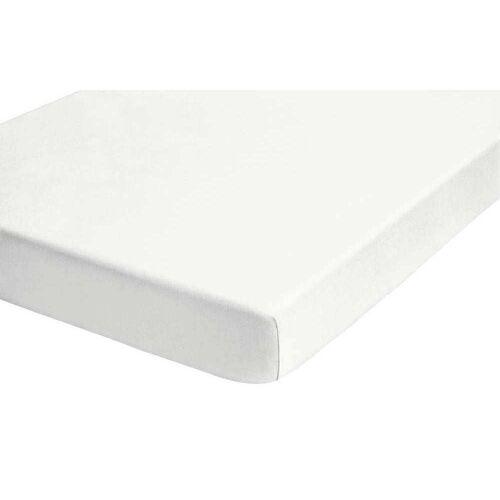 Biberna Fein-Biber Spannbettlaken 90x200 cm - 100x200 cm Weiß