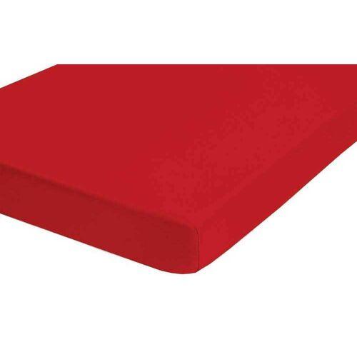 Biberna Fein-Biber Spannbettlaken 90x200 cm - 100x200 cm Rot