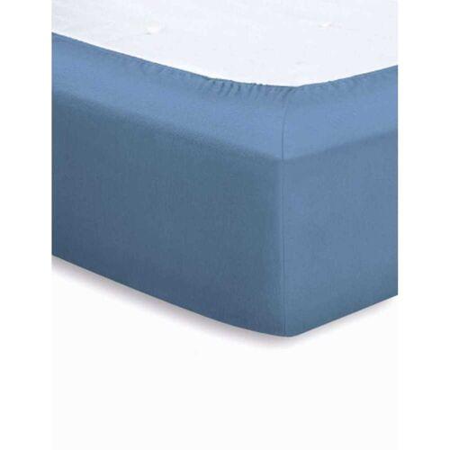 schlafgut Microfaser Velours Spannbettlaken 140x200 cm - 160x200 cm Beere