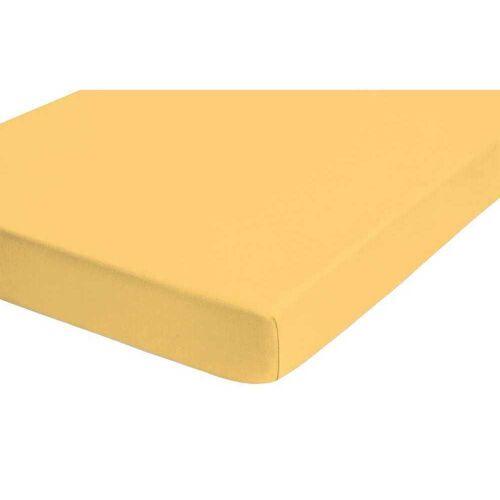 Biberna Fein-Biber Spannbettlaken 180x200 cm - 200x200 cm Gelb
