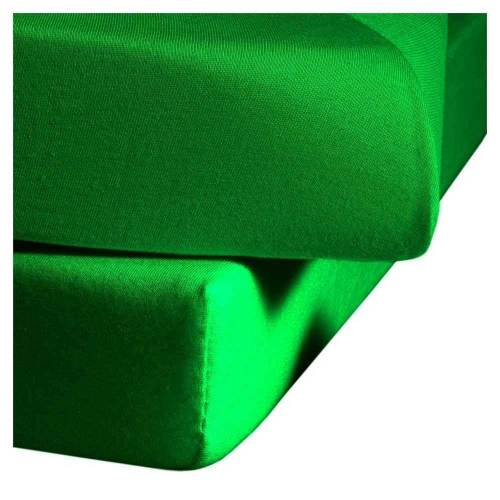 fleuresse Mako-Satin Spannbettlaken Bettlaken Colours 100x200 cm Grassgrün