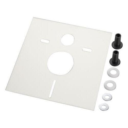 HAAS OHA Schallschutz-Set Quadro Premium DB 28 für Wand-WC und Bidets, 39 x 42,6 cm Schallschutz B: 39 H: 42,6 cm  7506