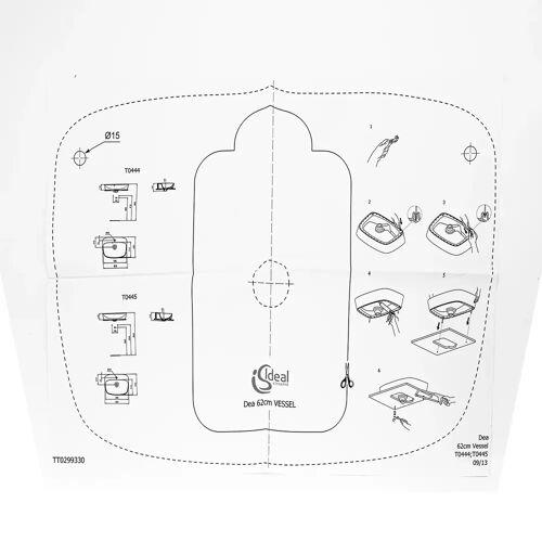 Ideal Standard für Dea Schale 62,5 cm für Dea Schale Art.T044501   TT0299330