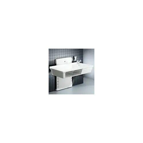 Pressalit Wickeltisch wandhängend 80 x 140 cm bodennah höhenverstellbar, mit sanitären Artikeln Wickeltische B: 140 T: 90 H: 116,5 cm weiß