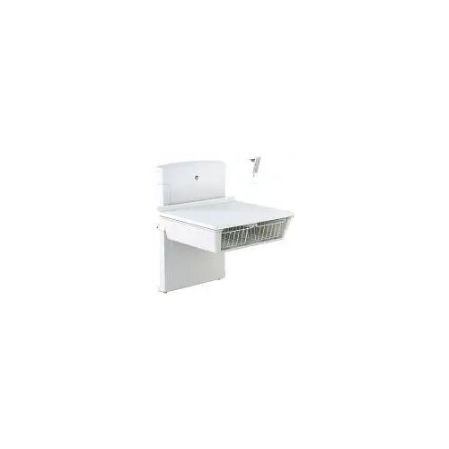 Pressalit Wickeltisch wandhängend 80 x 90 cm bodennah höhenverstellbar mit Elektromotor Wickeltische B: 90 T: 90 H: 116,5 cm weiß R8661000