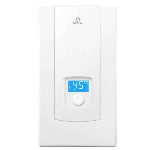 Kospel Durchlauferhitzer mit LCD-Display, Leistung einstellbar 9/12/15 kW Durchlauferhitzer B: 24,5 H: 44 cm weiß PPE2.9/11/12/15.DE
