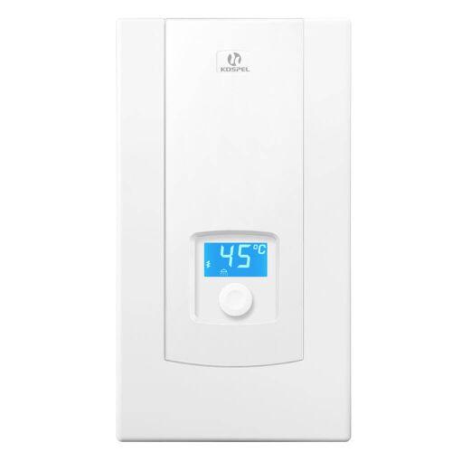 Kospel Durchlauferhitzer mit LCD-Display, Leistung einstellbar 17/18/21/24 kW Durchlauferhitzer B: 24,5 H: 44 cm weiß PPE2.17/18/21/24.DE