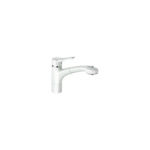 Kludi MX Spültisch Einhandmischer mit herausziehbarer Geschirrbrause  mit Geschirrbrause weiß/chrom 399419262