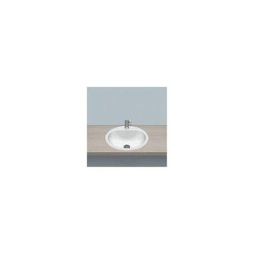 Alape Einbaubecken EW 3, kreisförmig mit 47,5 cm Ø Einbaubecken Ø: 47,5 H: 17,7 cm weiß 2005100000