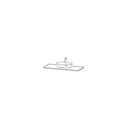 Duravit Luv Quarzsteinkonsole 138,8 x 59,5 cm mit 1 Ausschnitt Luv mit 1 Ausschnitt weiß struktur (quarzstein) LU946601717