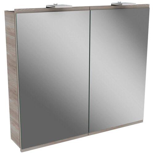 Fackelmann LIMA LED Spiegelschrank 80 cm   steinesche / steinesche 84892