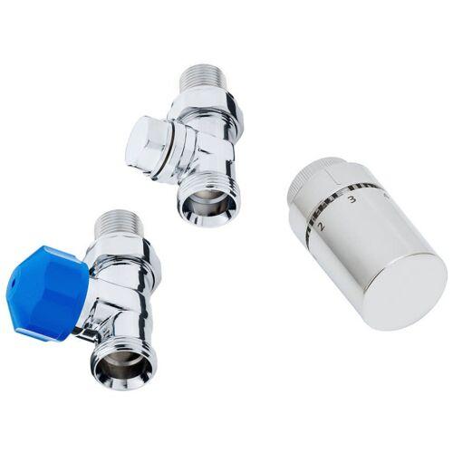 HSK Heizkörper Anschluss-Set Seitenanschluss Boden Zubehör Durchgangsvariante Seitenanschluss Boden  890826